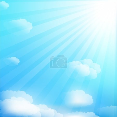 Illustration for Cloud And Sky, Vector Illustration - Royalty Free Image