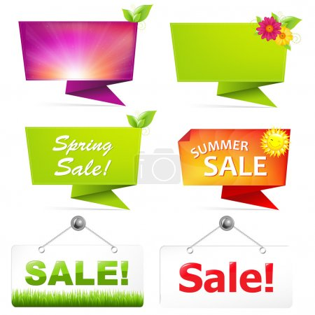Sale Origami Banners