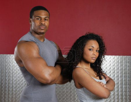 Fitness trainer couple