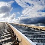 Railway going in heaven...