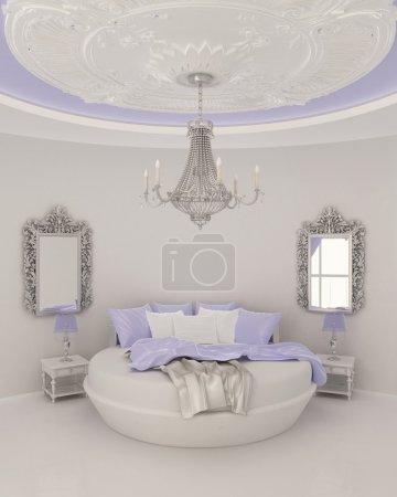 Photo pour Décor de plafond dans une chambre moderne. Appartement de luxe - image libre de droit