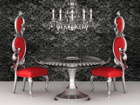Photo pour Chaises baroques. intérieur Royal. fond d'écran. - image libre de droit