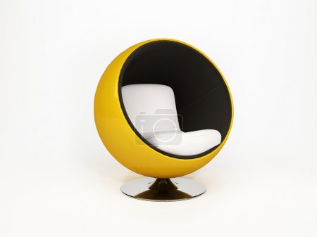 Photo for Modern round armchair. semicircular armchair isolated on white background - Royalty Free Image