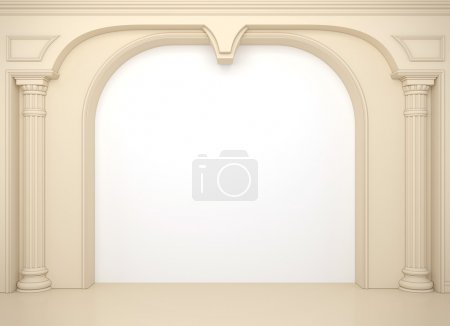 Photo for Classical portal with columns and an arcade - Royalty Free Image