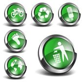 Set of 3D enviromentally green related icons
