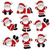 9 Festive Cute Santa Set for Christmas