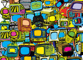 Vintage TVs Background