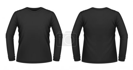 Black long-sleeved T-shirt