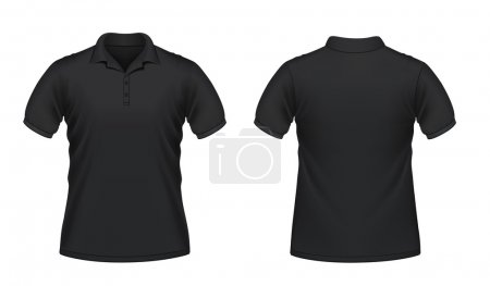 Black men's polo shirt