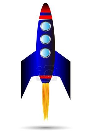 Starting blue rocket