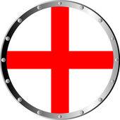Round shield isolated on white background
