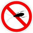 Forbidding vector sign - stop cockroach isolated o...