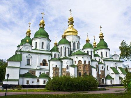Photo pour Cathédrale Sofiyiskiy à Kiev, capitale de l'Ukraine . - image libre de droit