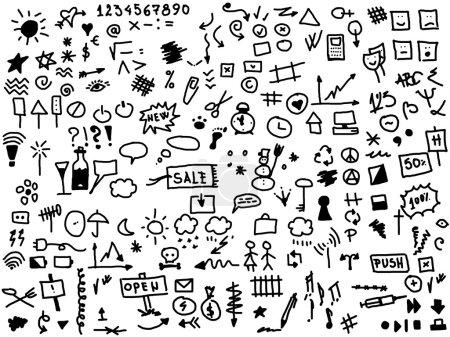 Photo pour Main dessiner icône Internet isolé sur fond blanc - image libre de droit