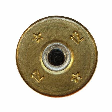 Photo pour Cartouches de fusil de chasse isolés sur blanc - image libre de droit