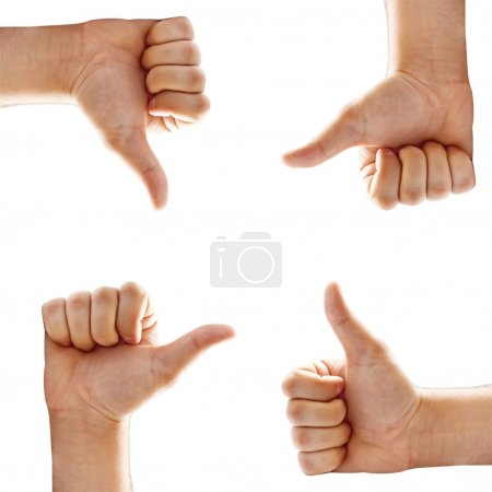 Set of hand sign