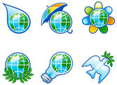 Set of icons for environment