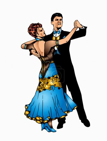 This is good couple dancing ballroom dance...