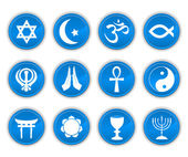 Religion icons blue