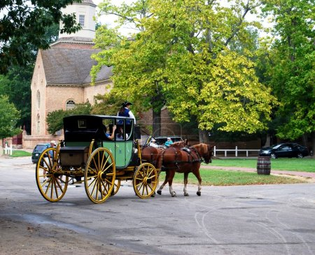 Horse Carriage Ride in Virginia, USA