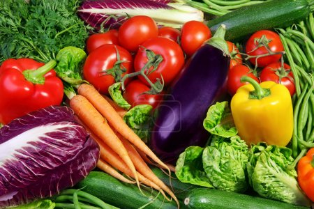 Photo for Assortment of fresh vegetables close up - Royalty Free Image