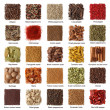 Indian spices collection with titles isolated on w...