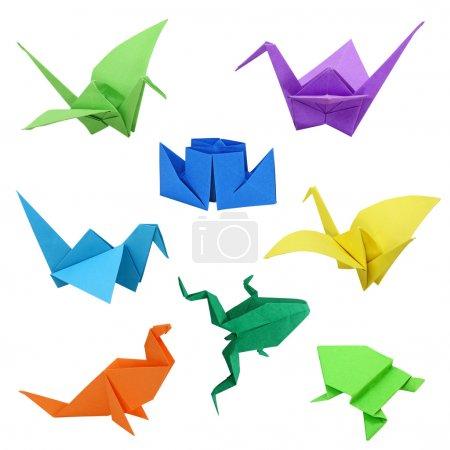 Foto de Imágenes de origami tradicional japonés en blanco - Imagen libre de derechos
