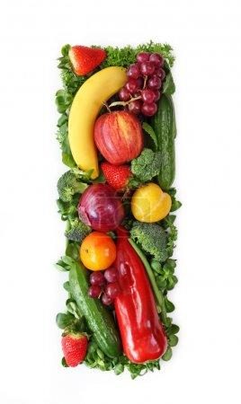 Foto de Frutas y verdura alfabeto - letra i - Imagen libre de derechos