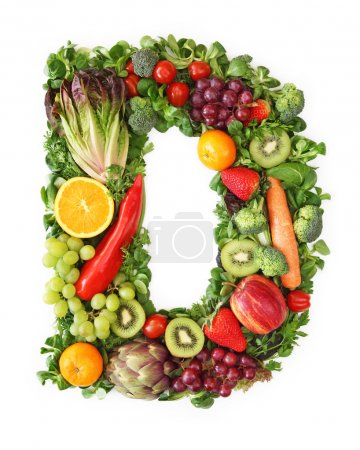 Fruit and vegetable alphabet - letter D...