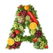 Fruit and vegetable alphabet - letter A...