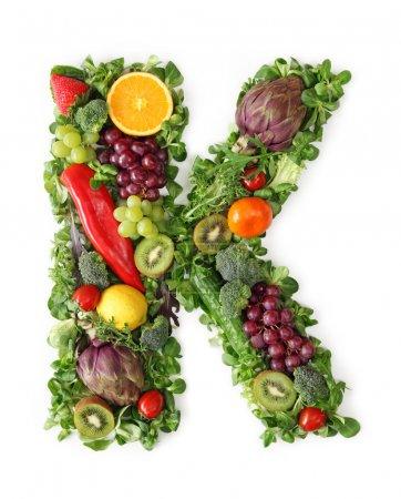 Fruit and vegetable alphabet - letter K...