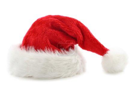 Photo pour Santa claus chapeau isolé sur fond blanc - image libre de droit