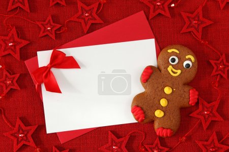 Gingerbread man and blank card