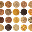 Cereals collection isolated on white background...