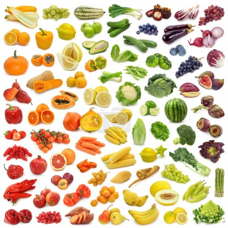 Photo for Rainbow collection of fruits and vegetables - Royalty Free Image