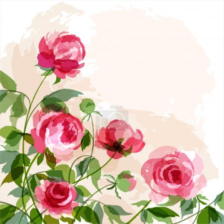 Illustration for Romantic background with peonies. EPS 10 - Royalty Free Image