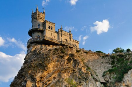 Photo for The castle on the rock. Against the sky - Royalty Free Image