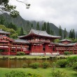 Byodo-In Buddhist Japanese Temple in the Valley of...