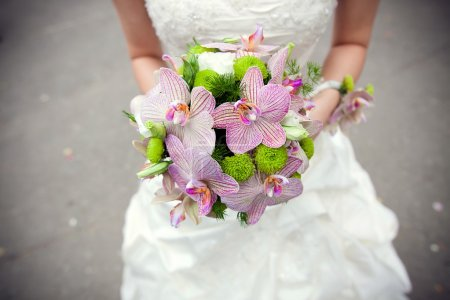 Photo for Bouquet in bride's hands - Royalty Free Image