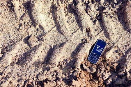 Cell phone on tread