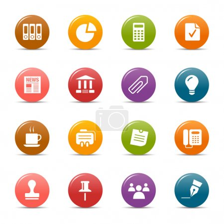 Illustration for Office and Business icon set - Royalty Free Image