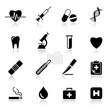 Illustration pour Basic - icônes médicales - image libre de droit
