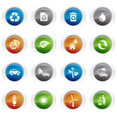 Glossy Buttons - Ecological Icons 01