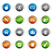 Glossy Buttons - School Icons 01