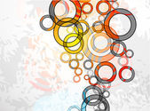 Abstract grungy circles Vector background