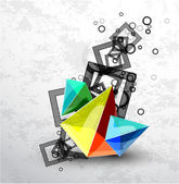 Vector abstract pyramid background