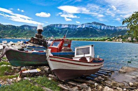 Fishing boats on thassos