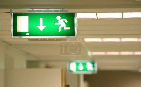 Emergency exit in a corridor...