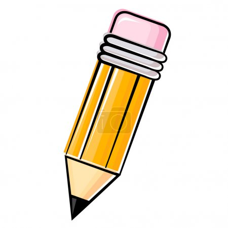 Illustration for Illustration of vector wood pencil - Royalty Free Image