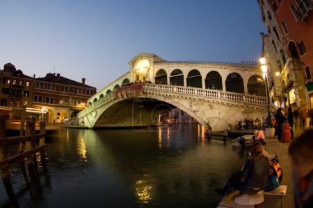 Rialto Bridge at the canale Grande at Night